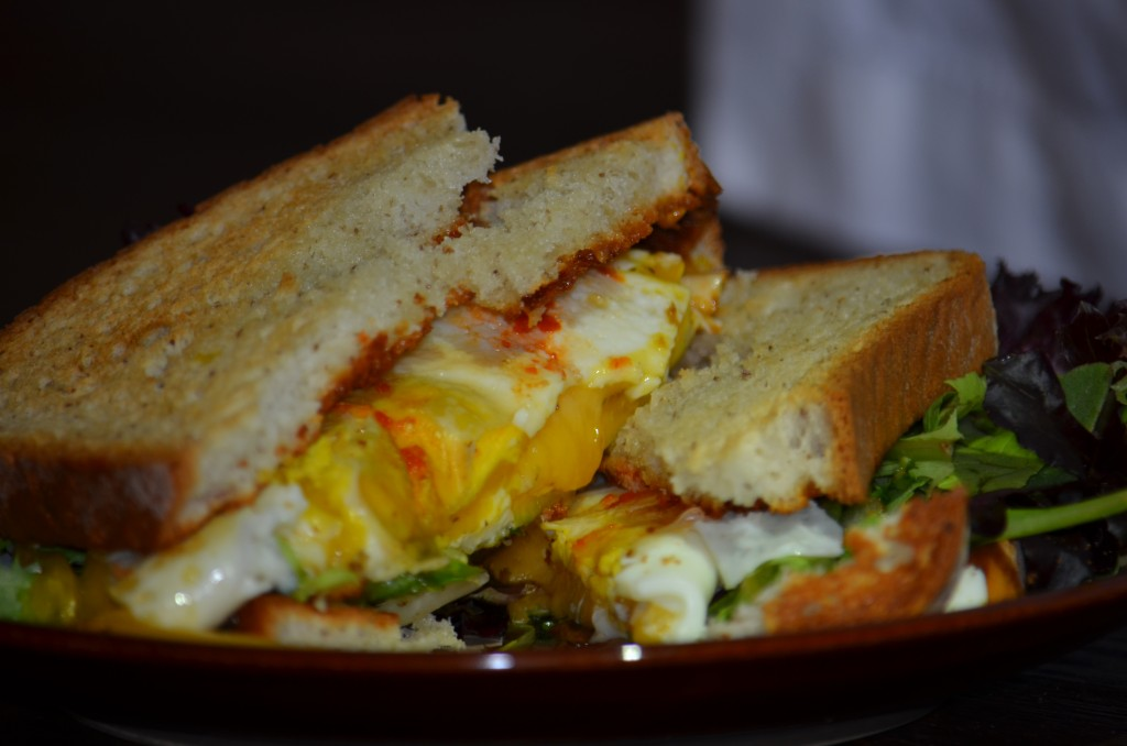 spicy egg sandwich