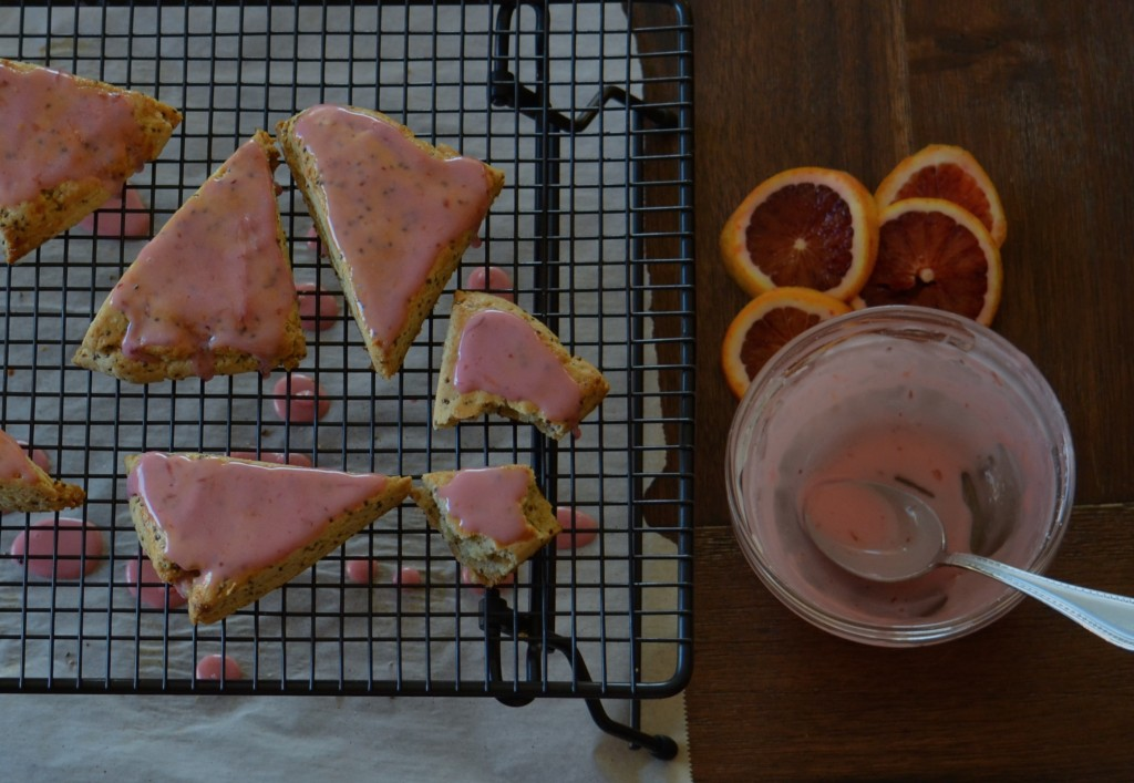 Blood Orange Chia Scones